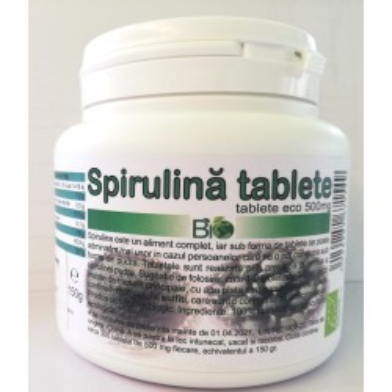 SPIRULINA TABLETE ECO 300  X 500 MG