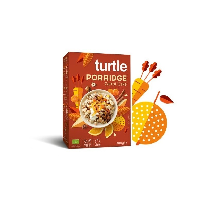 Cereale Eco Turtle - Carrot Cake - 400 gr.