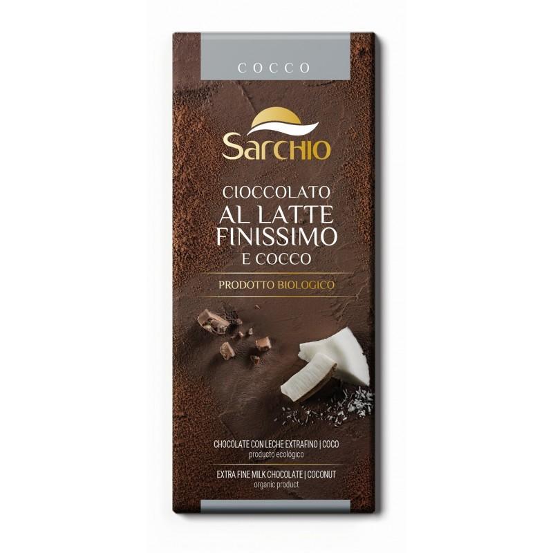 Ciocolată cu lapte extra-fină (39% cacao) cu nucă de cocos