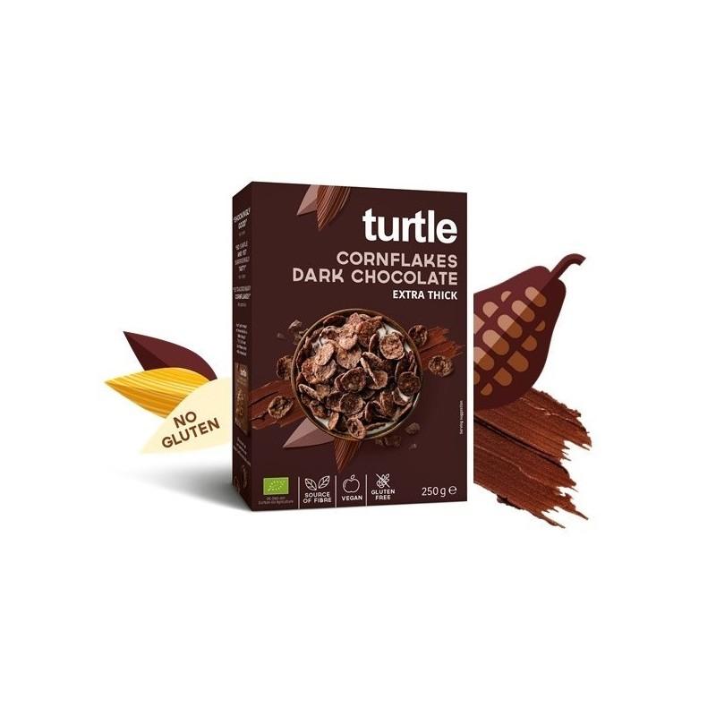 Fulgi de porumb înveliți în ciocolată neagră - Turtle