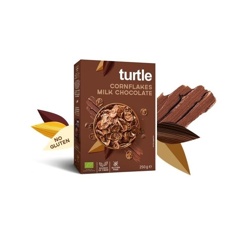 Fulgi de porumb înveliți în ciocolată cu lapte
