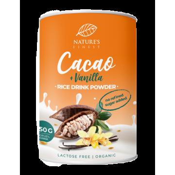Băutură instant de orez cu cacao și vanilie