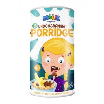 Porridge cu ciocolată și banană eco pentru copii 250g - Malie