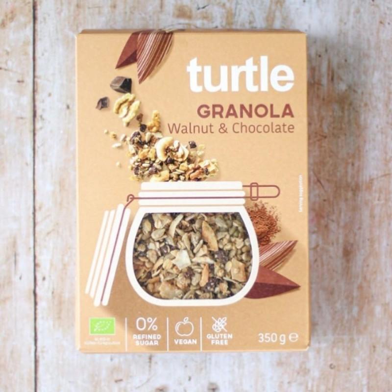 TURTLE Granola cu nuci și ciocolată - 350g