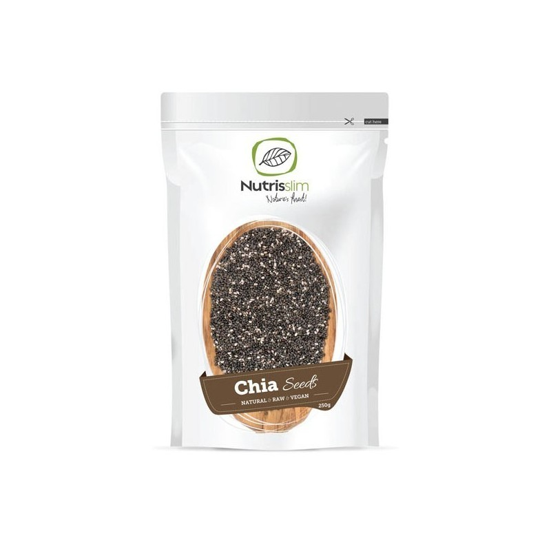 Semințe negre Chia - 250 g - Nature`s Finest Nutrisslim