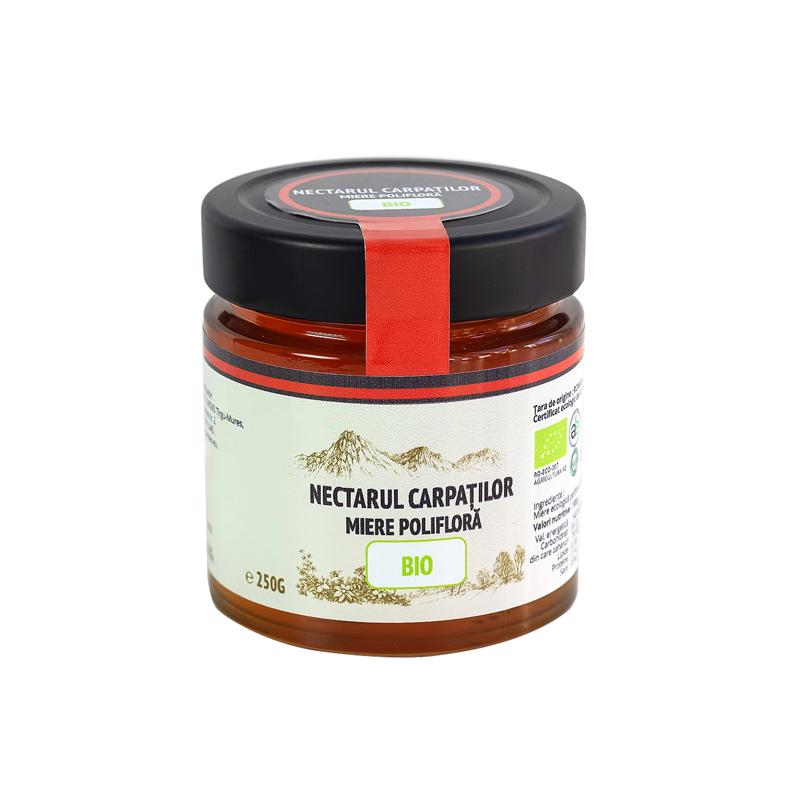 Miere bio polifloră Nectarul Carpaților - 250g
