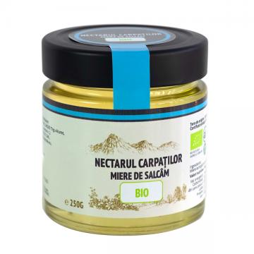 Miere bio de salcâm Nectarul Carpaților - 250g