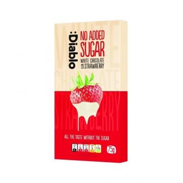 Ciocolată albă cu căpșună fără zahăr - Diablo