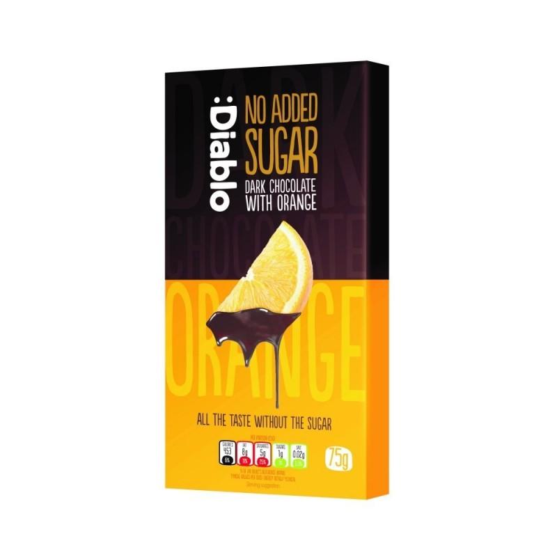 Ciocolată neagră cu portocale fără zahăr - Diablo