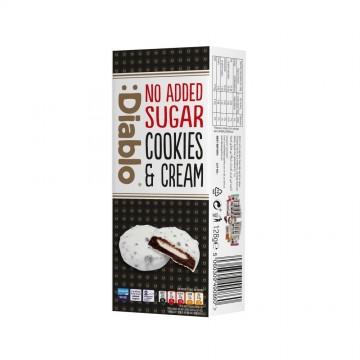 Biscuiți  fără zahăr cu cremă de ciocolată albă - Diablo