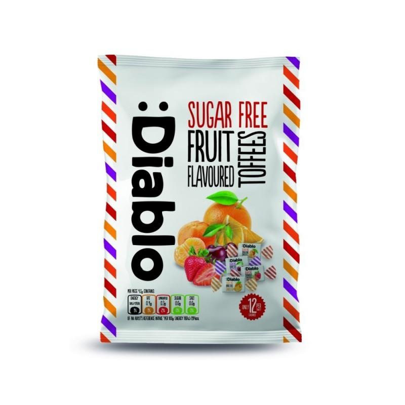 Caramele  fără zahăr cu aromă de fructe - Diablo