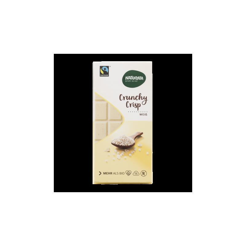 Ciocolată albă cu cereale expandate fără gluten - Naturata