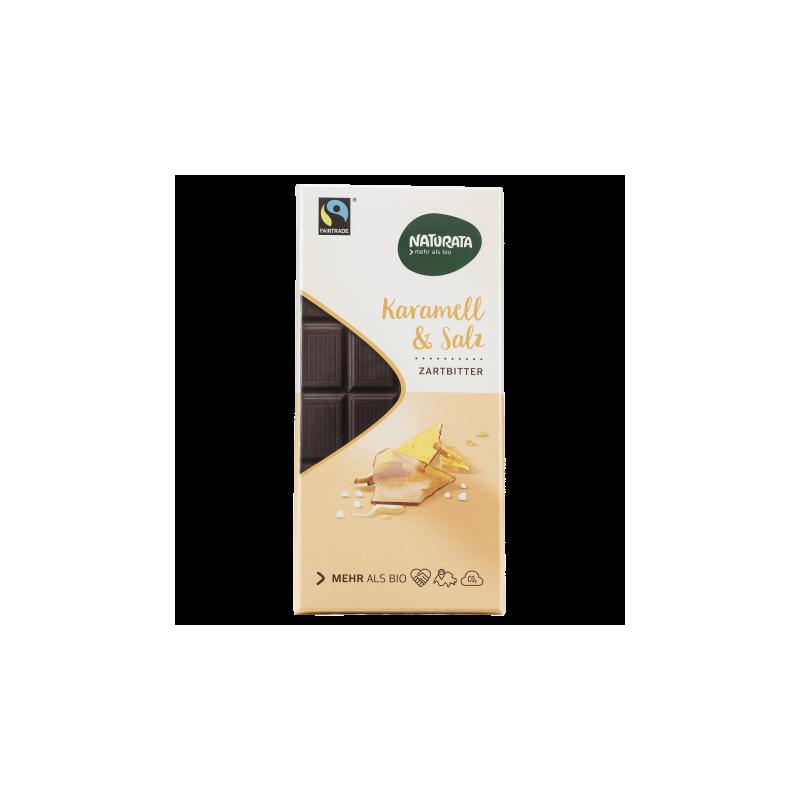 Ciocolată cu caramel și sare de mare -Naturata