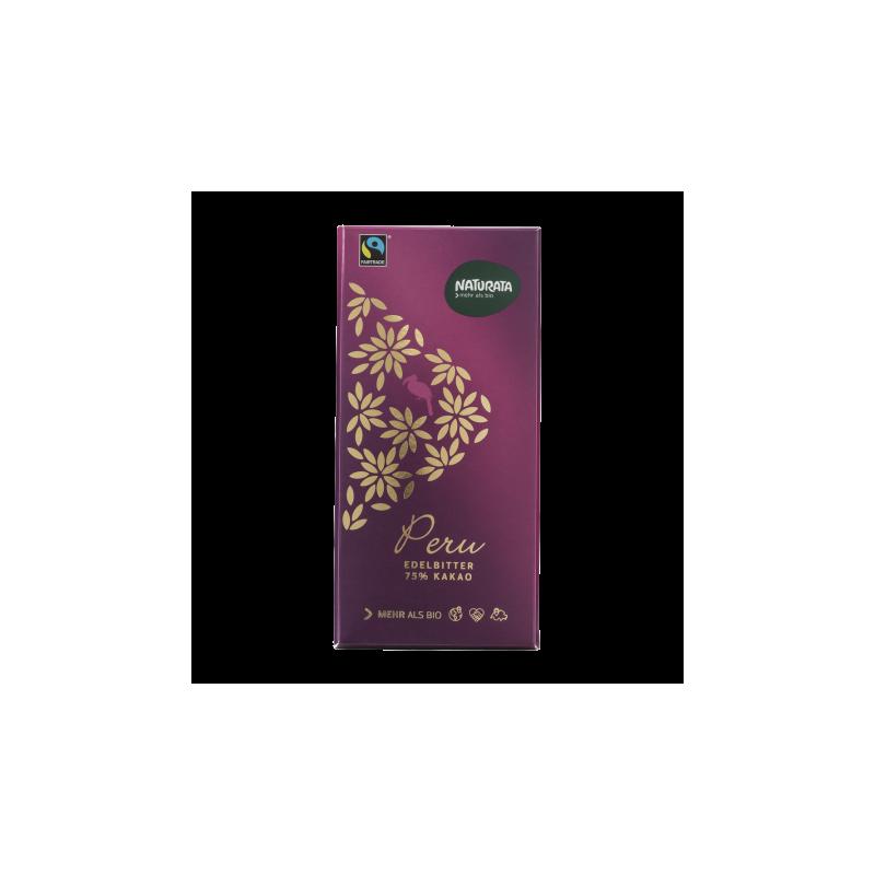 Ciocolată neagră 75% cacao Peru - Naturata