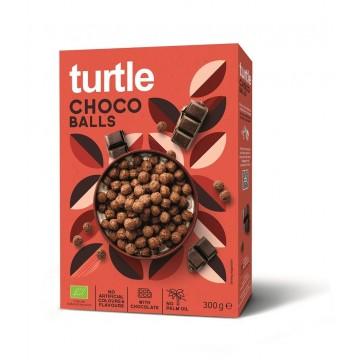 Bile crocante eco din cereale invelite in ciocolata 300 gr