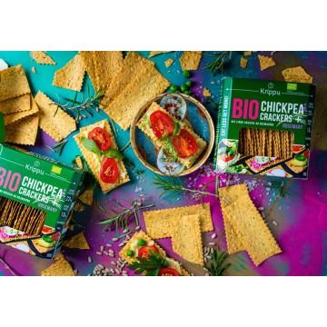 Crackers eco din naut cu rozmarin 80 gr