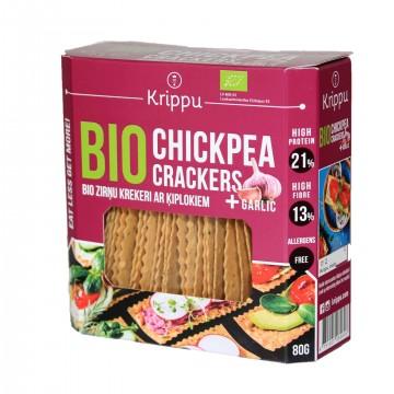 Crackers eco din naut cu usturoi 80 gr