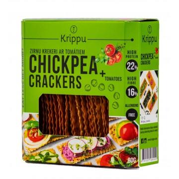 Crackers din naut cu rosii 80 gr
