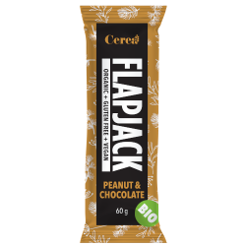 Baton eco Flapjack de ovaz, arahide si ciocolata 60 gr (fara gluten)