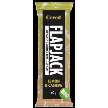 Baton eco Flapjack din fulgi de ovaz cu lamaie si caju 60 gr (fara gluten)