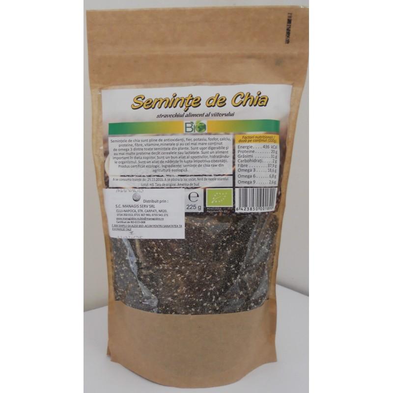 Seminte de Chia Bio, 225g