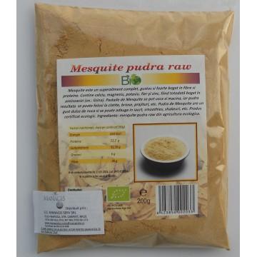 Mesquite pudra raw- bio, 200g