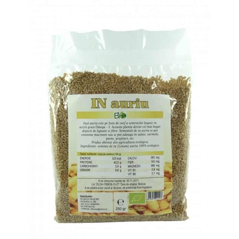 Seminte de in auriu (250 grame)